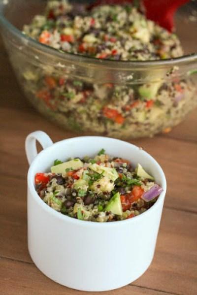 Quinoa Salad with Black Beans, Avocado & Cumin-Lime Dressing