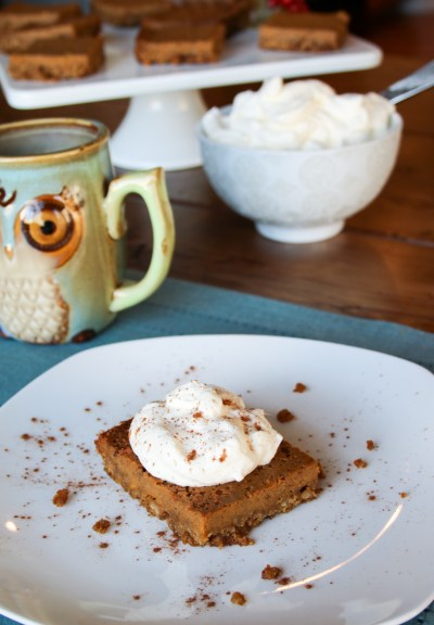Bourbon Pumpkin Bars {Gluten Free Option}