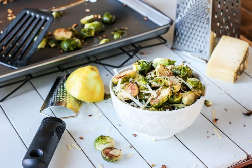 Lemon Garlic & Parmesan Roasted Brussels Sprouts