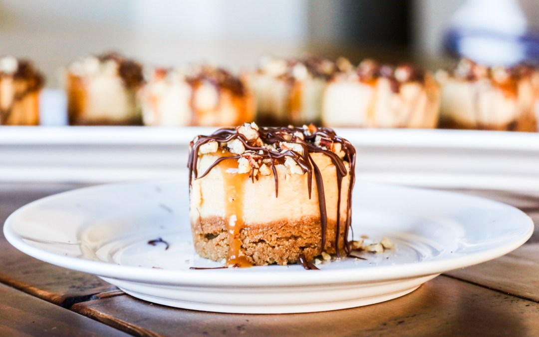Mini Turtle Cheesecakes {Gluten Free Option}