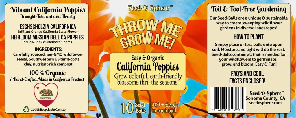 CALIFORNIA HEIRLOOM POPPIES BLEND