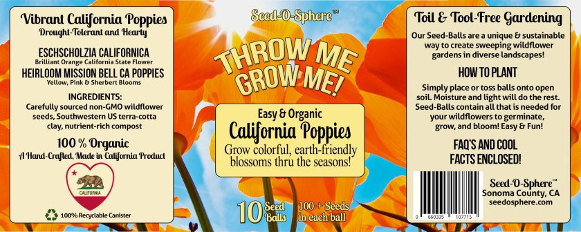 CALIFORNIA HEIRLOOM POPPIES BLEND