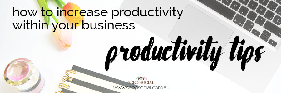 "When it comes to increasing productivity within your business, the most crucial piece of advice is to ""plan to work and work your plan."" Here's 8 more tips to increase productivity within your business. – @seed_social"