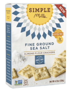 Box of Simple Mills Fine Ground Sea Salt Crackers