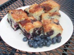 Sinfully Good Blueberry Cake