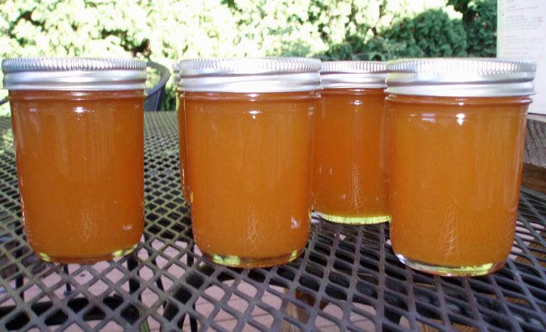 peach butter jars
