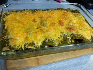 green enchildada sauce, green enchiladas
