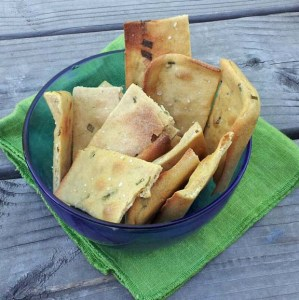 homemade herb crackers
