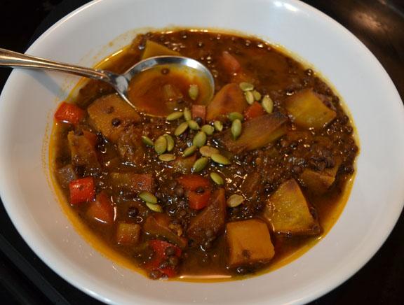 lentil squash soup
