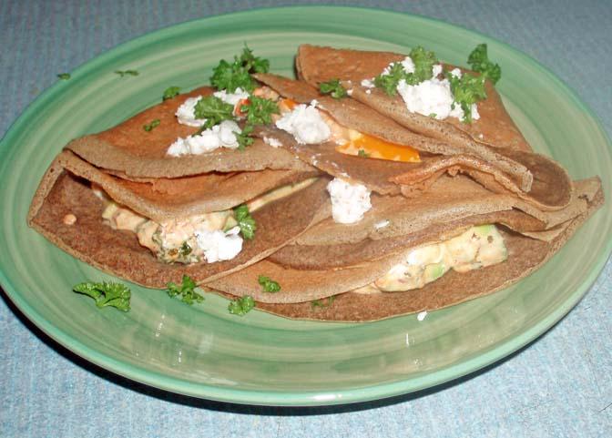 sourdough buckwheat crepes