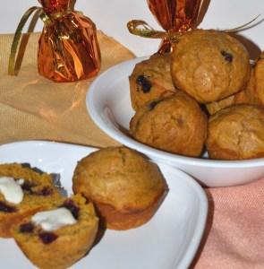 pumpkin blueberry muffins