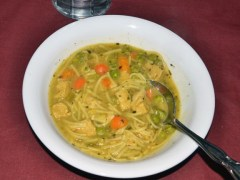 Homemade Vegetarian Chicken Noodle Soup – National Soup Month