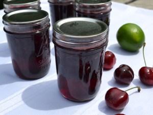 cherry lime jam
