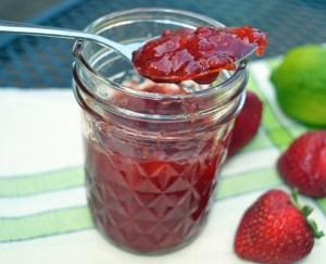 strawberry mango jam with lime