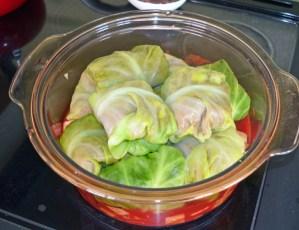 vegetarian stovetop cabbage rolls
