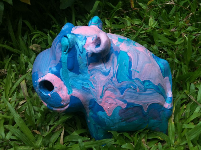 Hippo abstract paint