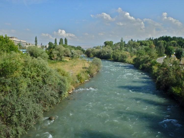 The Ak Burra River, Osh, Kyrgyzstan