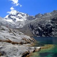 Hiking in the Cordillera Blanca Andes in Huaraz Peru