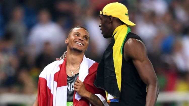 Jamaican Track star Usain Bolt and Canadian young gun Andre de Grasse