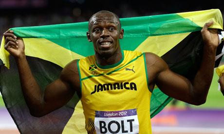 Jamaican Track star Usain Bolt