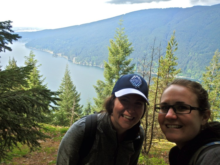 Morgan and I hiking Diez Vistas trail in Vancouver