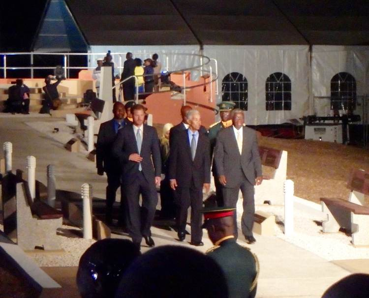 Prince Harry at 50th anniversary celebrations Barbados