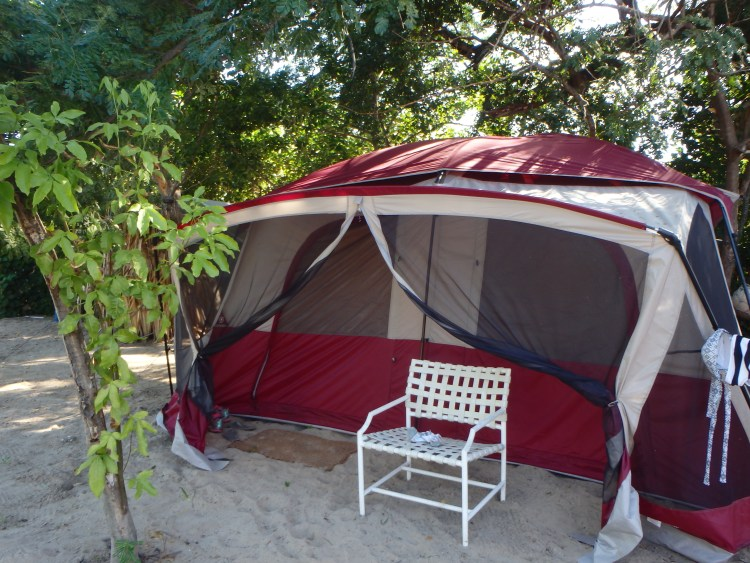 furnished tent at katamah guesthouse treasure beach jamaica places to stay in treasure beach jamaica travel blog solo travel
