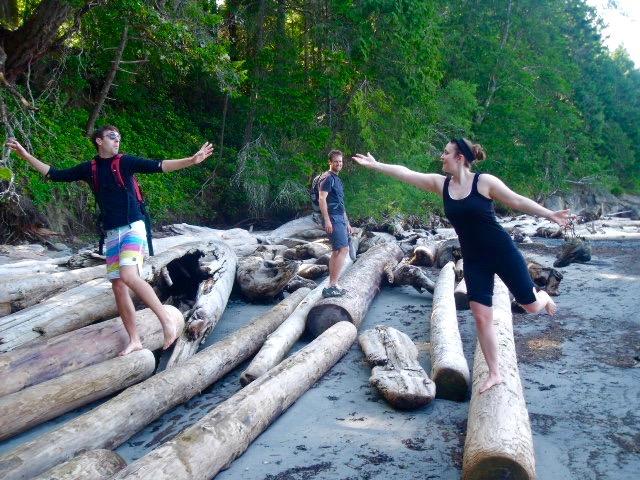 Galiano island driftwood gulf islands BC travel