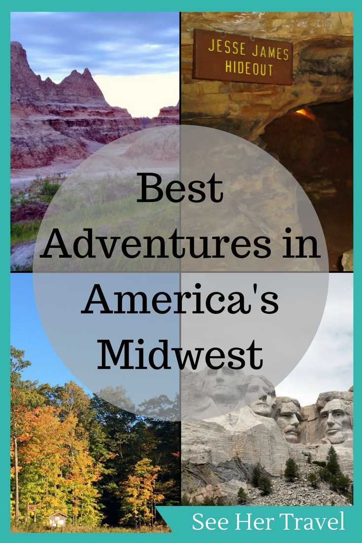 The United States is full of adventure, but no area so much as the Midwest!  With the Badlands, Mount Rushmore, Mark Twain Cave, and epic outdoors activities, the Midwest is an outdoors lover's dreamland!