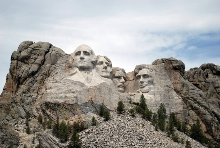 Mount Rushmore in the Black Hills near Badlands National Park