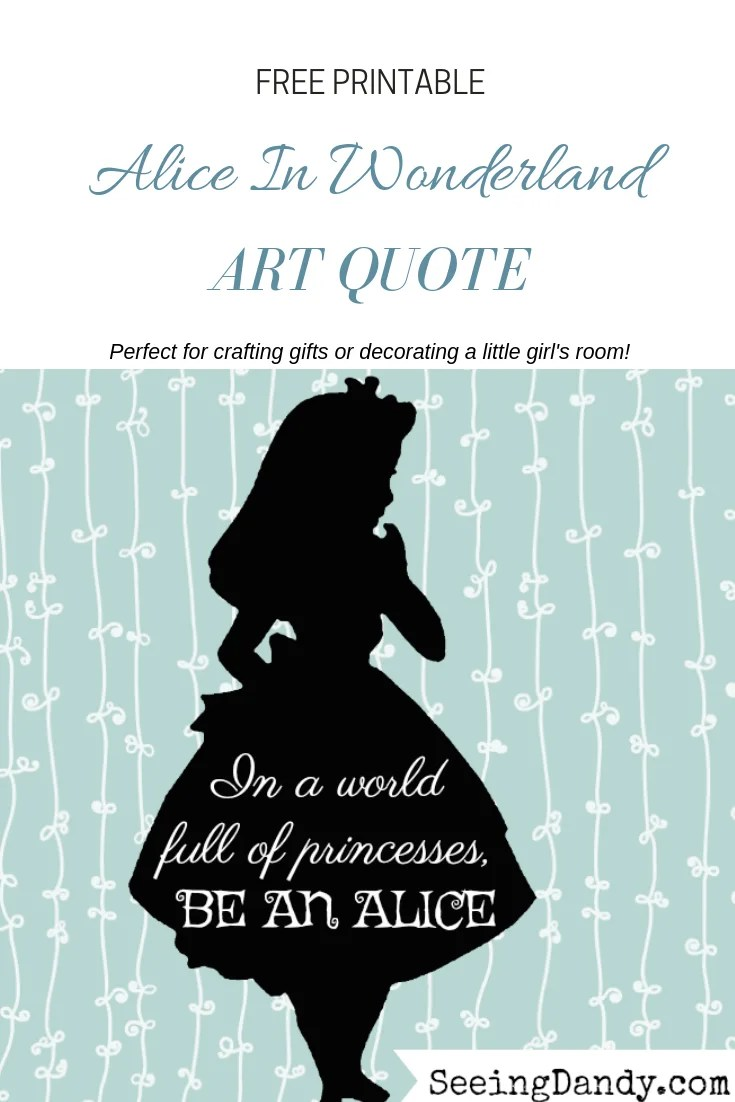 Free Disney Inspired Alice In Wonderland Printables Seeing Dandy
