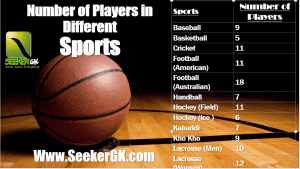 Number of Players in different Sports