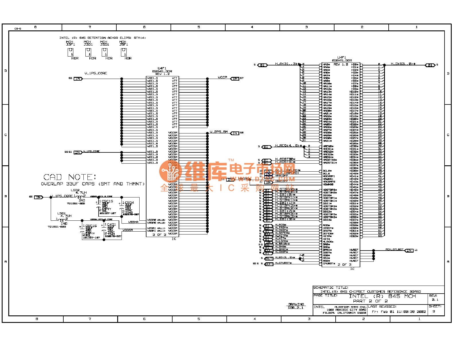 845ddr Computer Motherboard Circuit Diagram 09