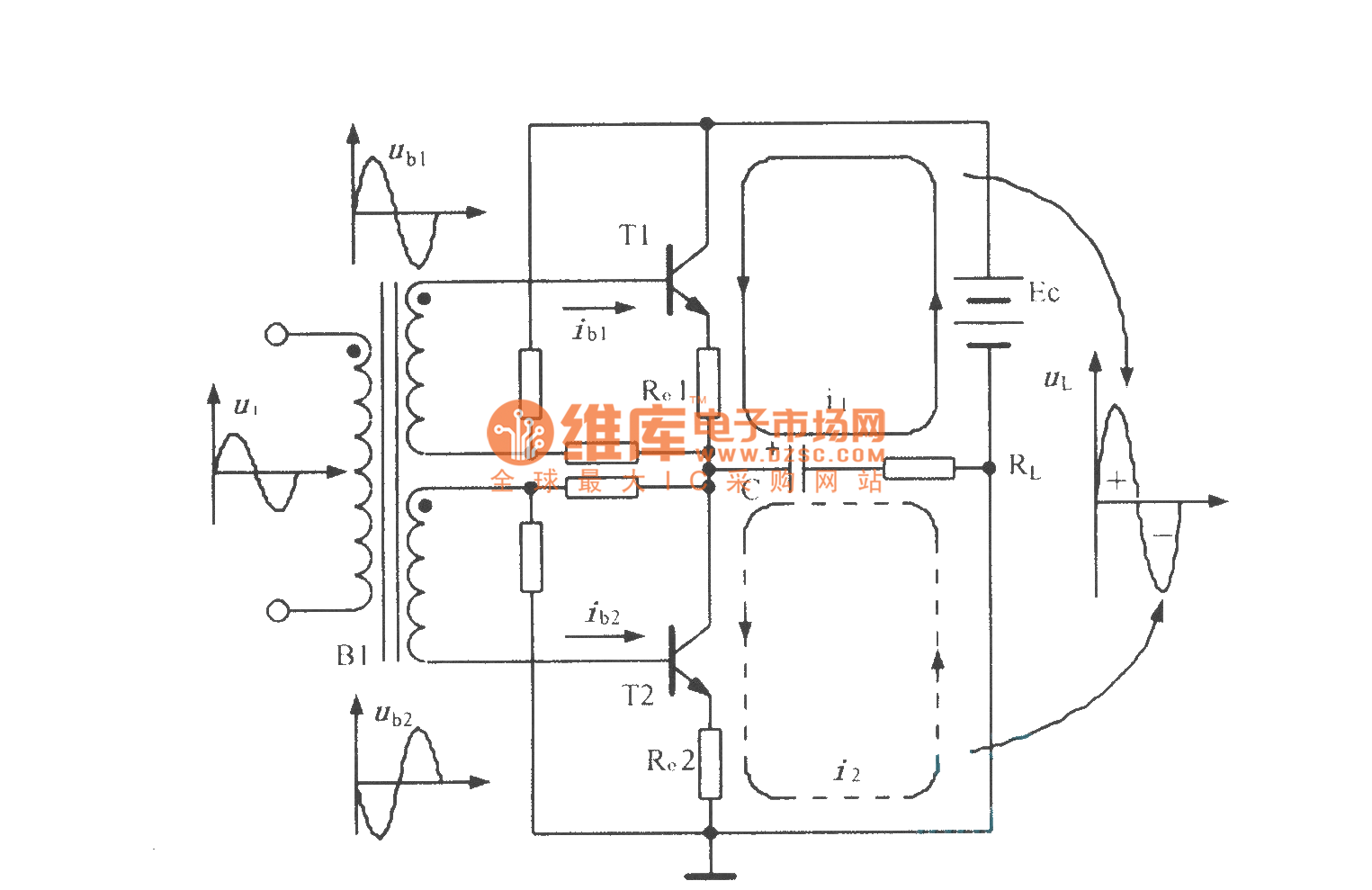 Otl Circuit With Input Transformer