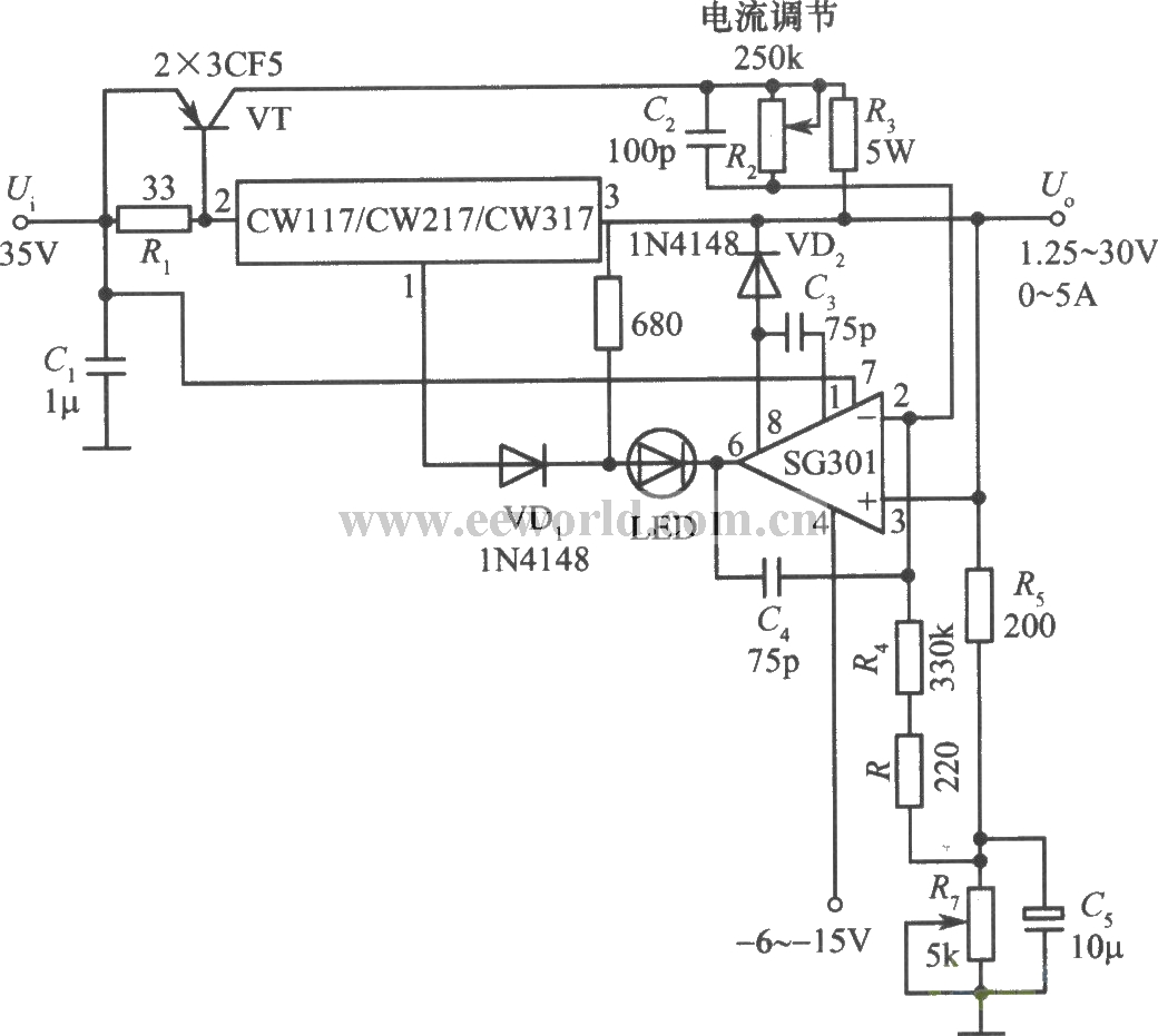 Constant Voltage Constant Current Supply With Cw117