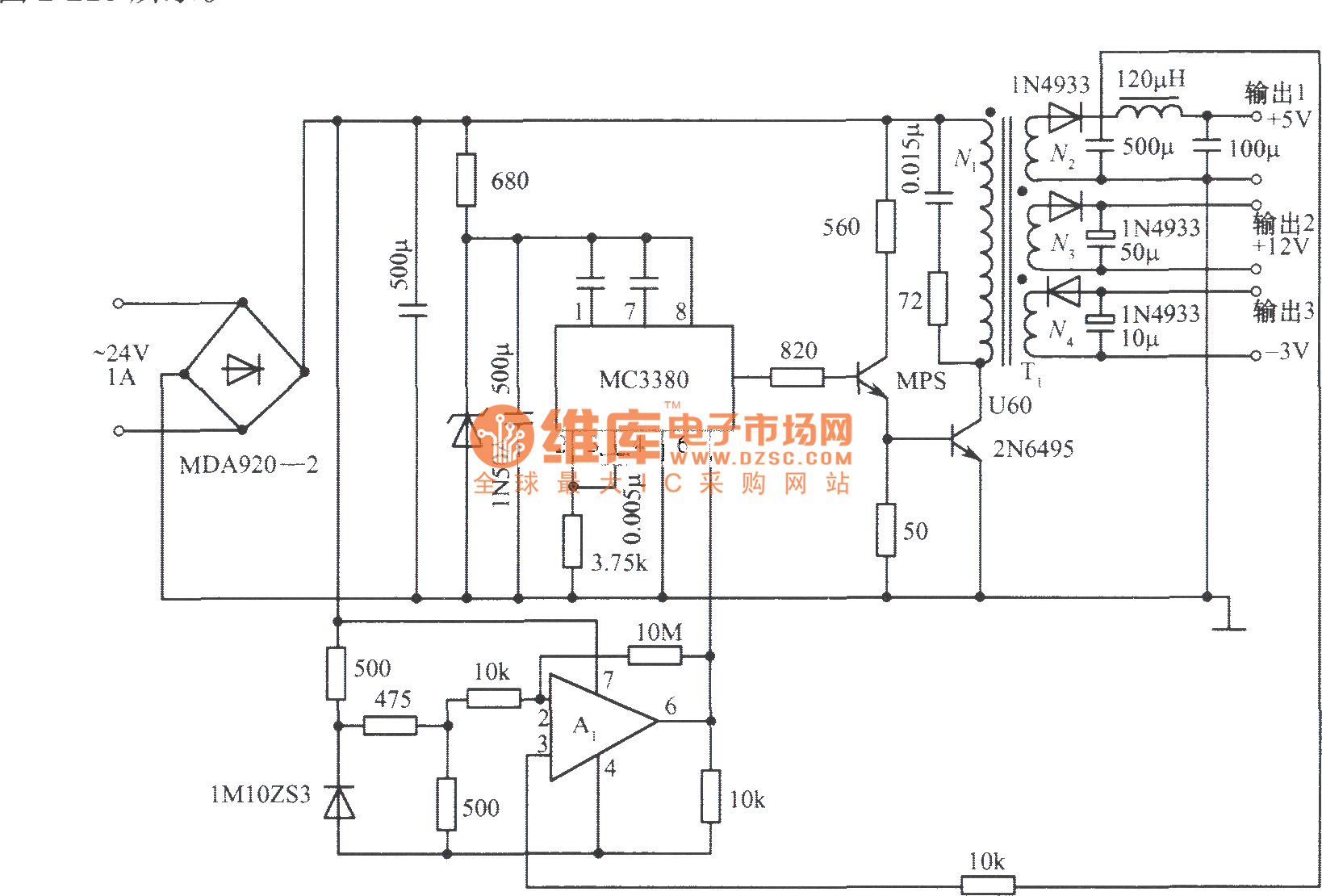 Multi Channel Output Switch Regulated Power Supply