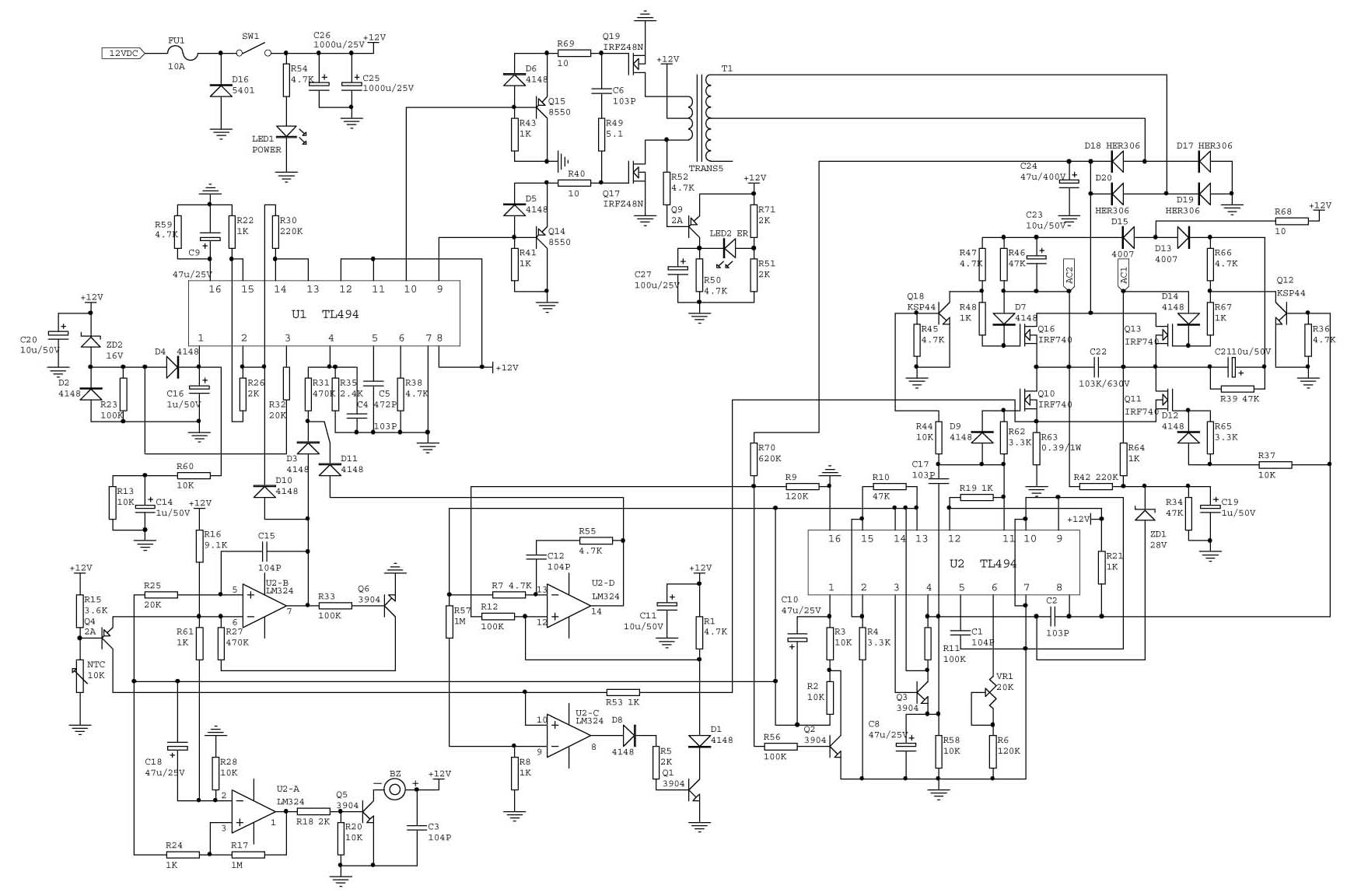 Common Inverter Principle Diagram On The Market 12vdc To