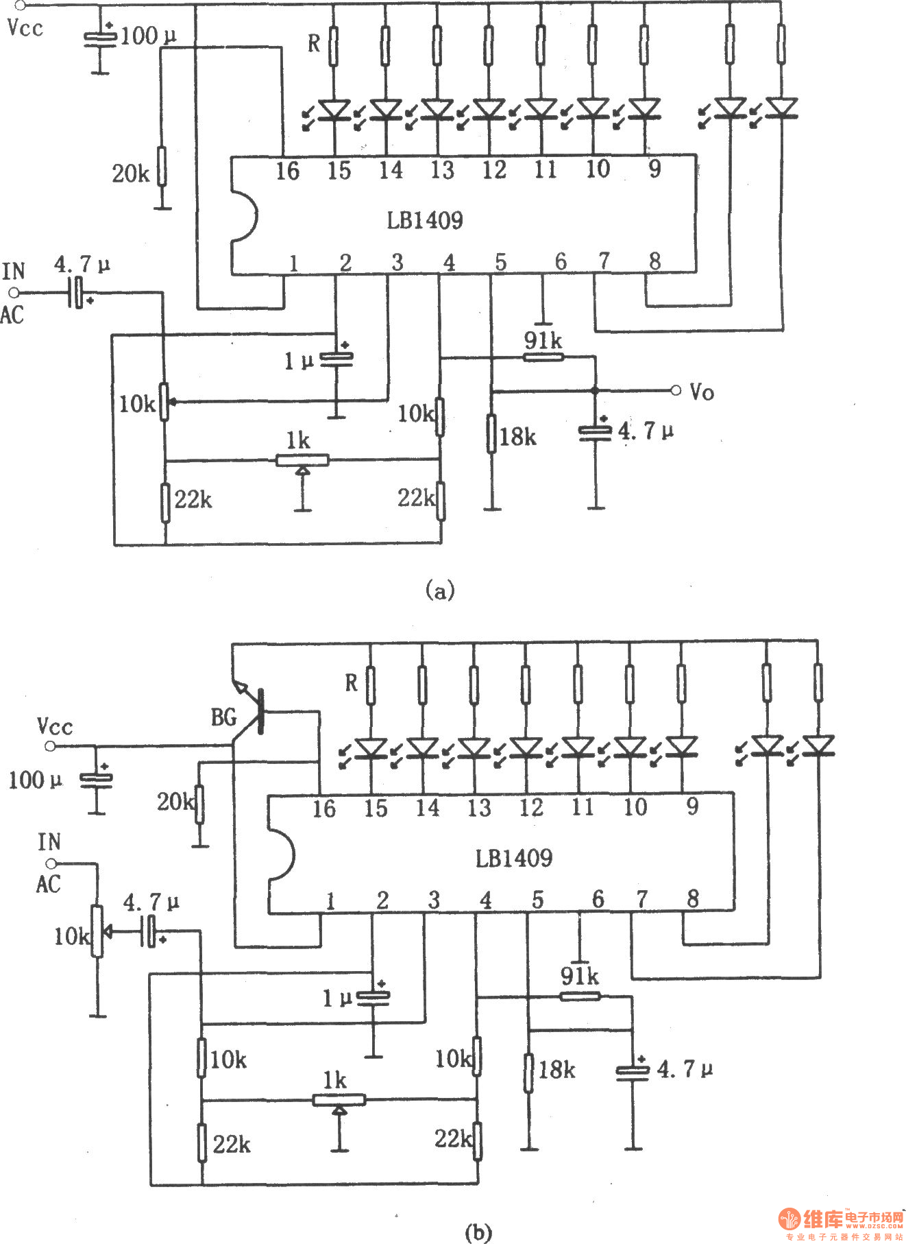 Lb Nine Led Level Display Driver Circuit