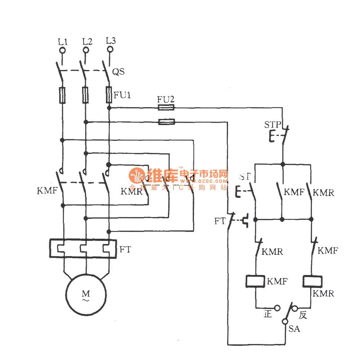 Three Phase Motor With Pre Selection Switch Commutation