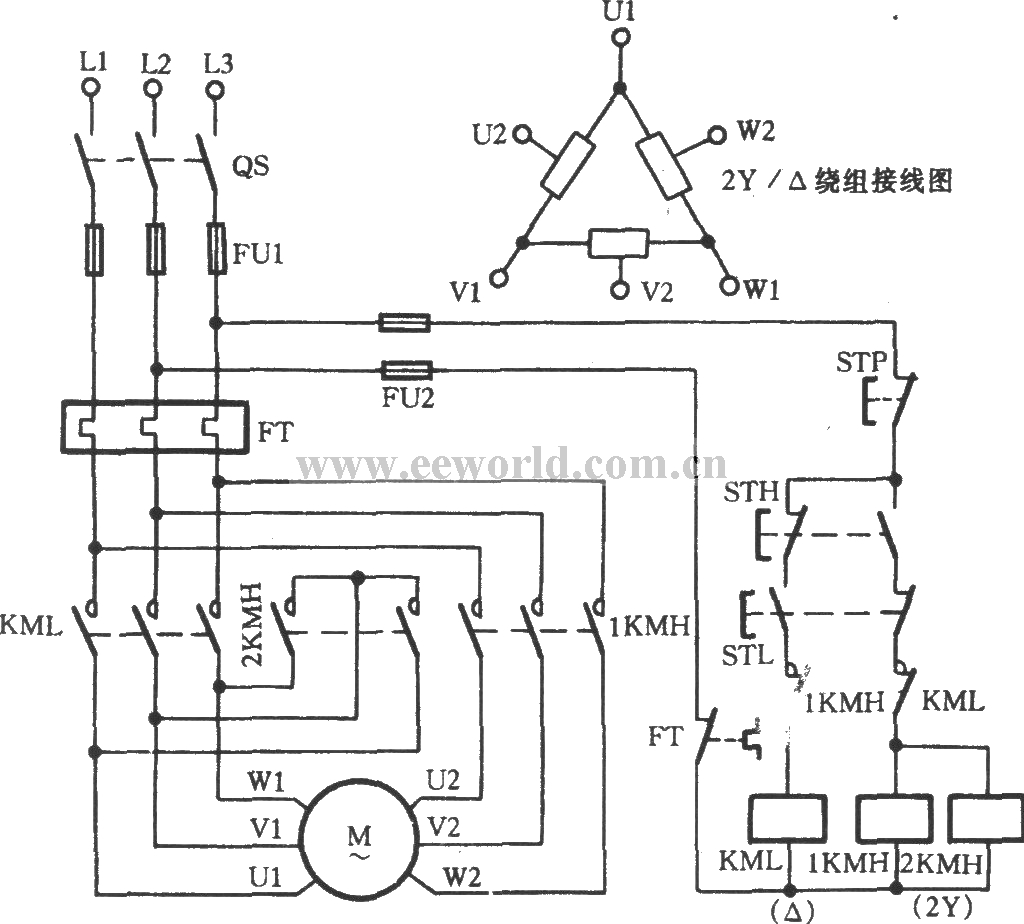 Three Phase Motor Dual Speed 2y Connection Speed Control