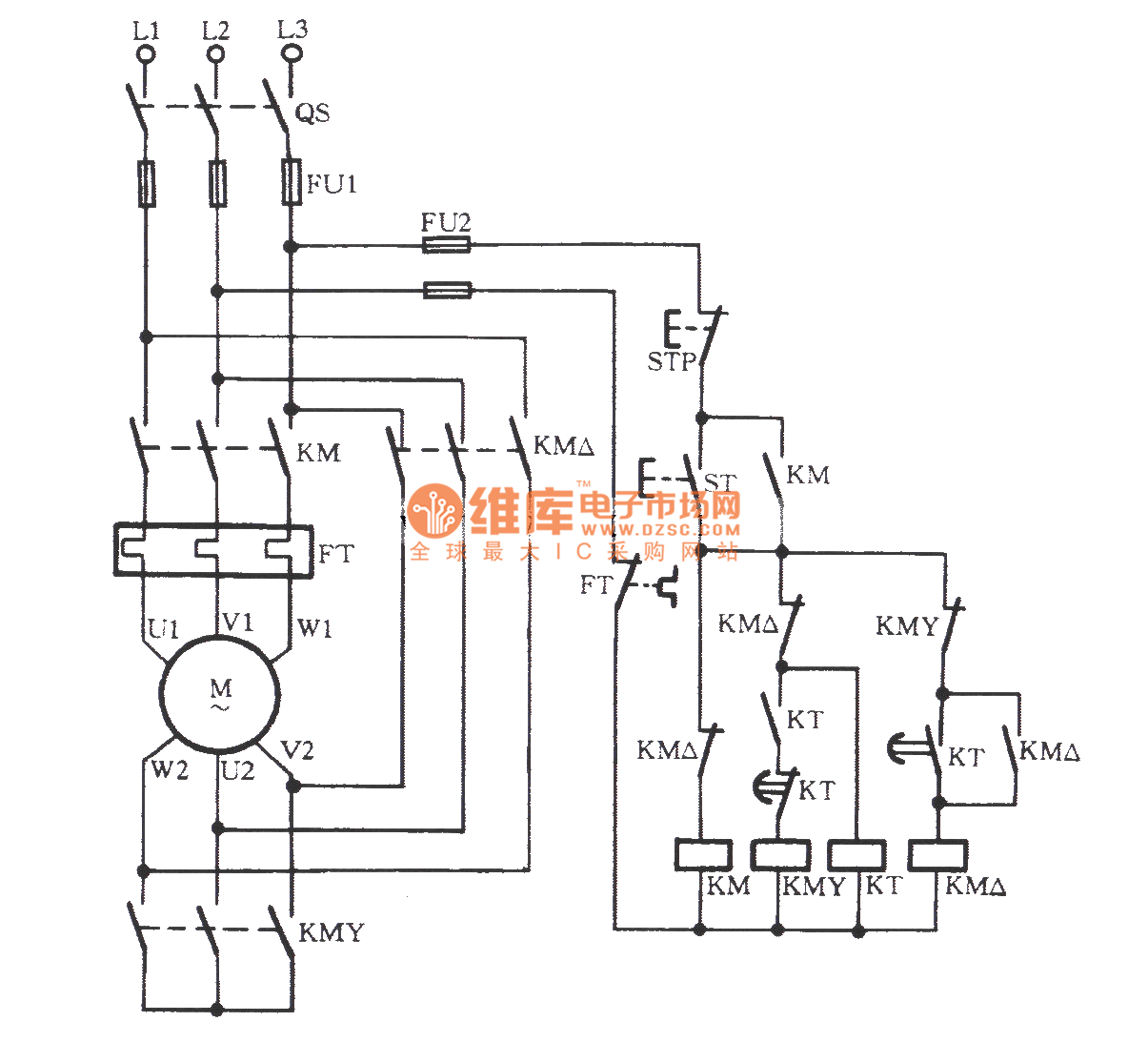 Automatically Switching Circuit For Preventing Y Starter
