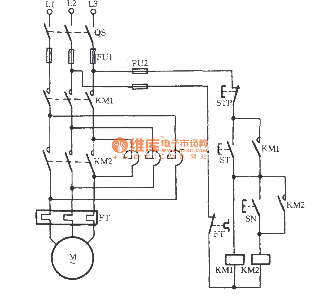 Manually Series Reactance Starting Three Phase Motor