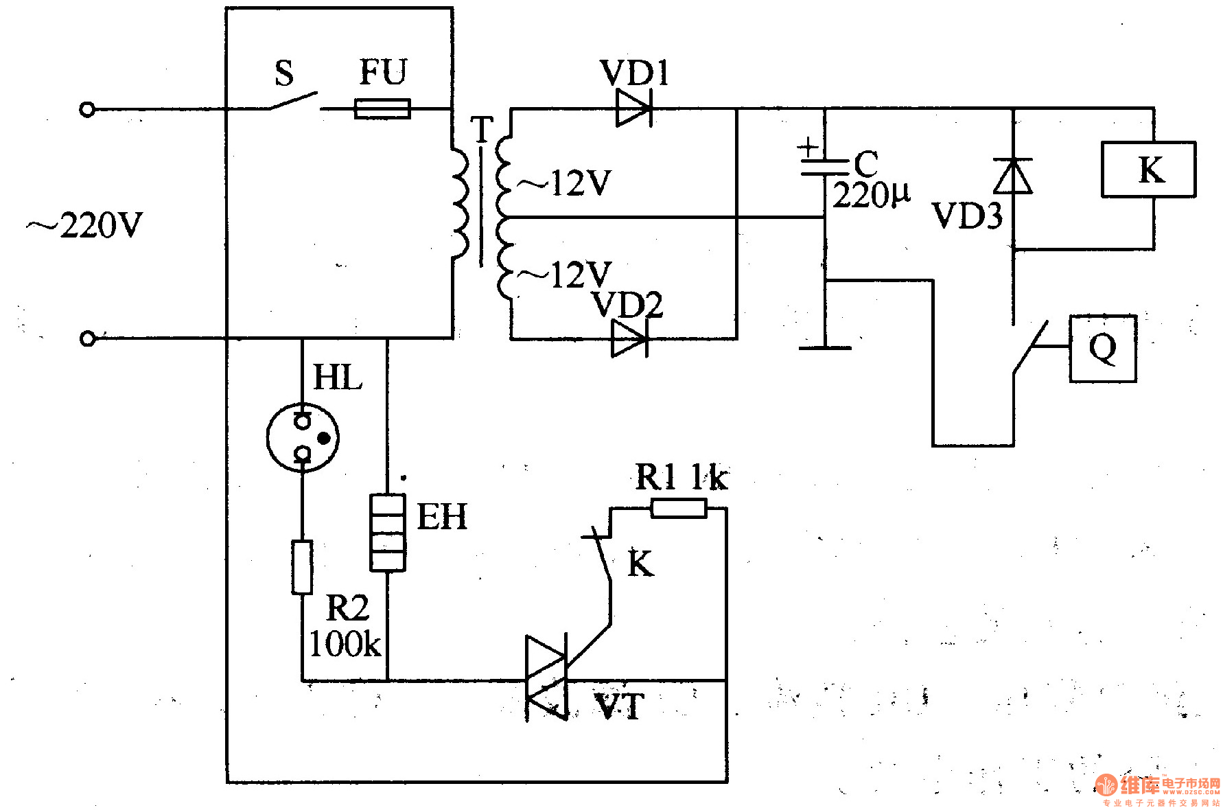 Block Diagram For Temperature Control In A Refrigerator