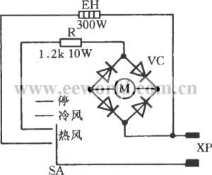 Hair dryer circuit  Electrical_Equipment_Circuit
