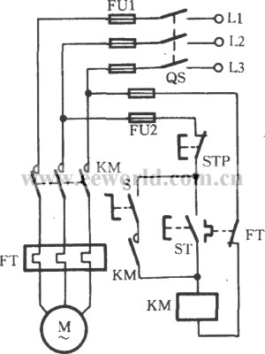 Changeover switch selecting operating mode circuit