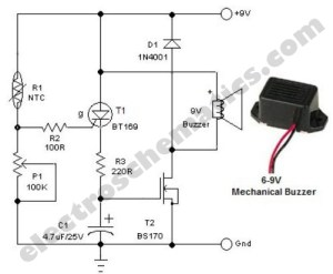 Sensitive Freezer Alarm with Buzzer  Signal_Processing
