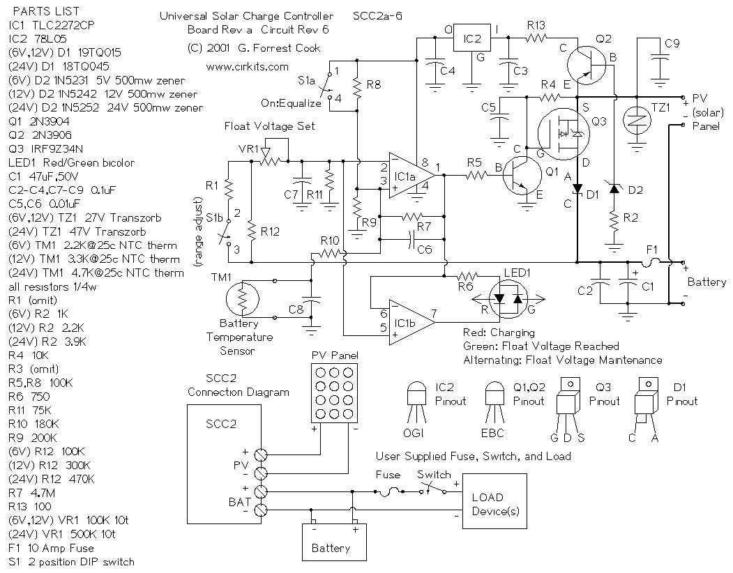 10 Amp Solar Charge Controller By Lm324