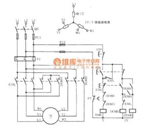 Threephase motor double speed 2Y  Y connection speed