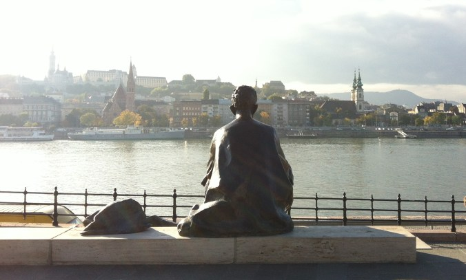 Statue on the Danube