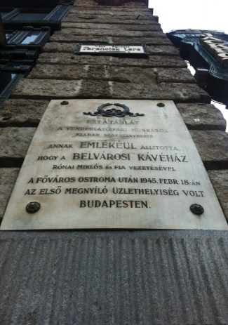 Miklós Rónai and the first business to open after the Siege of Budapest